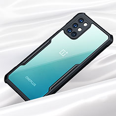 Silicone Transparent Mirror Frame Case Cover for OnePlus 8T 5G Black