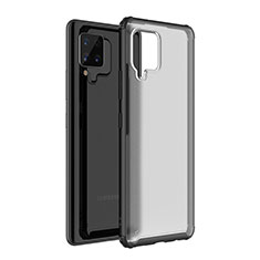 Silicone Transparent Mirror Frame Case Cover for Samsung Galaxy A42 5G Black