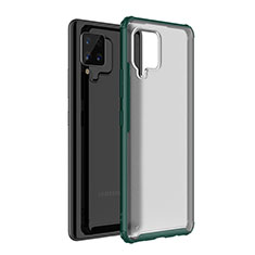 Silicone Transparent Mirror Frame Case Cover for Samsung Galaxy A42 5G Green