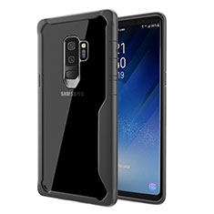 Silicone Transparent Mirror Frame Case Cover for Samsung Galaxy S9 Plus Gray