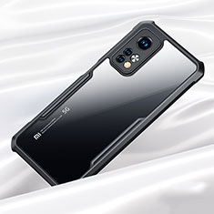 Silicone Transparent Mirror Frame Case Cover for Xiaomi Mi 10T 5G Black