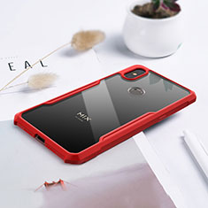 Silicone Transparent Mirror Frame Case Cover for Xiaomi Mi Mix 3 Red