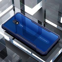 Silicone Transparent Mirror Frame Case Cover for Xiaomi Redmi 8A Blue