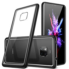 Silicone Transparent Mirror Frame Case Cover H01 for Huawei Mate 20 Pro Black