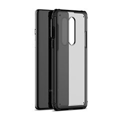 Silicone Transparent Mirror Frame Case Cover H01 for OnePlus 8 Black