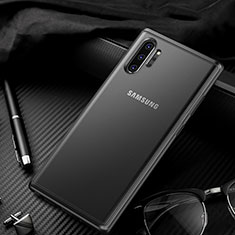 Silicone Transparent Mirror Frame Case Cover H01 for Samsung Galaxy Note 10 Plus 5G Black