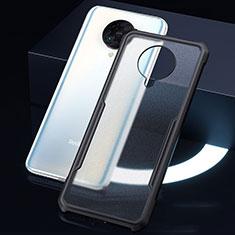 Silicone Transparent Mirror Frame Case Cover H01 for Xiaomi Redmi K30 Pro 5G Black