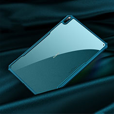 Silicone Transparent Mirror Frame Case Cover M01 for Huawei MatePad Pro 5G 10.8 Cyan