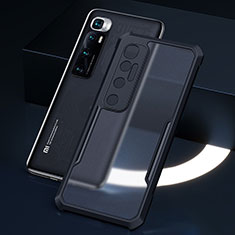 Silicone Transparent Mirror Frame Case Cover M01 for Xiaomi Mi 10 Ultra Black