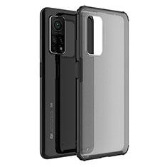 Silicone Transparent Mirror Frame Case Cover M01 for Xiaomi Mi 10T Pro 5G Black