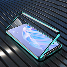 Silicone Transparent Mirror Frame Case Cover M02 for Oppo A91 Green