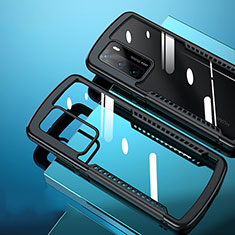 Silicone Transparent Mirror Frame Case Cover N02 for Huawei P40 Black
