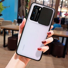 Silicone Transparent Mirror Frame Case Cover N05 for Huawei P40 Black