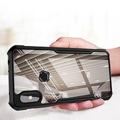 Silicone Transparent Mirror Frame Case for Xiaomi Redmi Note 6 Pro Black