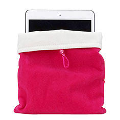 Sleeve Velvet Bag Case Pocket for Apple iPad 2 Hot Pink