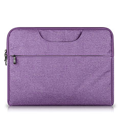 Sleeve Velvet Bag Case Pocket S03 for Huawei Matebook X Pro (2020) 13.9 Purple