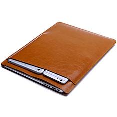 Sleeve Velvet Bag Leather Case Pocket L01 for Huawei Matebook D14 (2020) Orange
