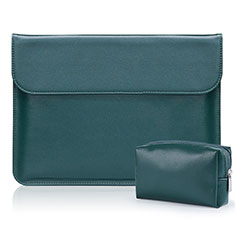 Sleeve Velvet Bag Leather Case Pocket L01 for Samsung Galaxy Book Flex 15.6 NP950QCG Green