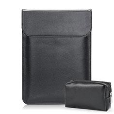 Sleeve Velvet Bag Leather Case Pocket L02 for Samsung Galaxy Book Flex 15.6 NP950QCG Black