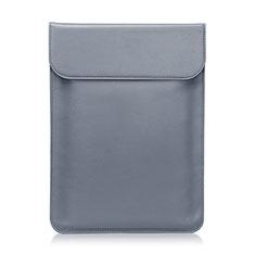 Sleeve Velvet Bag Leather Case Pocket L03 for Huawei Matebook D14 (2020) Gray
