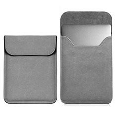 Sleeve Velvet Bag Leather Case Pocket L03 for Samsung Galaxy Book Flex 15.6 NP950QCG Gray