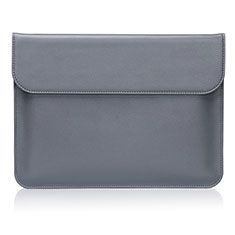 Sleeve Velvet Bag Leather Case Pocket L04 for Huawei Matebook D14 (2020) Gray