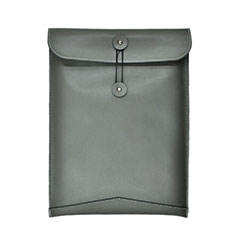 Sleeve Velvet Bag Leather Case Pocket L04 for Huawei Matebook X Pro (2020) 13.9 Gray
