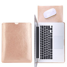 Sleeve Velvet Bag Leather Case Pocket L17 for Apple MacBook Air 13 inch Gold