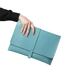 Sleeve Velvet Bag Leather Case Pocket L18 for Apple MacBook Air 13.3 inch (2018) Sky Blue
