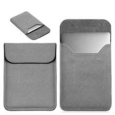 Sleeve Velvet Bag Leather Case Pocket L19 for Apple MacBook Air 13.3 inch (2018) Gray