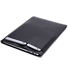 Sleeve Velvet Bag Leather Case Pocket L20 for Apple MacBook Pro 13 inch Black