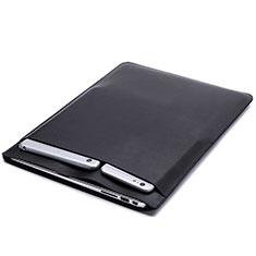 Sleeve Velvet Bag Leather Case Pocket L20 for Apple MacBook Pro 15 inch Black