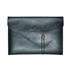 Sleeve Velvet Bag Leather Case Pocket L23 for Apple MacBook Pro 13 inch Black