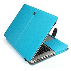 Sleeve Velvet Bag Leather Case Pocket L24 for Apple MacBook Air 13.3 inch (2018) Sky Blue