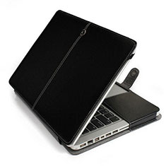 Sleeve Velvet Bag Leather Case Pocket L24 for Apple MacBook Pro 13 inch Black