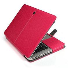 Sleeve Velvet Bag Leather Case Pocket L24 for Apple MacBook Pro 13 inch Hot Pink