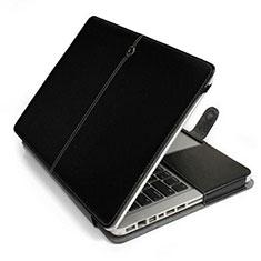 Sleeve Velvet Bag Leather Case Pocket L24 for Apple MacBook Pro 15 inch Black