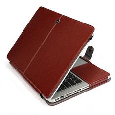 Sleeve Velvet Bag Leather Case Pocket L24 for Apple MacBook Pro 15 inch Brown
