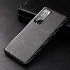Soft Luxury Leather Snap On Case Cover for Huawei Enjoy Z 5G Black
