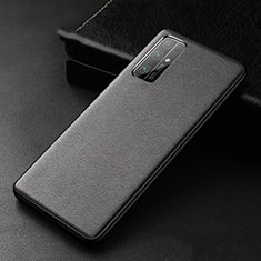Soft Luxury Leather Snap On Case Cover for Huawei Honor 30 Black