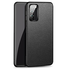 Soft Luxury Leather Snap On Case Cover for Huawei Honor 30 Lite 5G Black