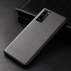 Soft Luxury Leather Snap On Case Cover for Huawei Honor 30 Pro Black