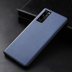 Soft Luxury Leather Snap On Case Cover for Huawei Honor 30 Pro Blue