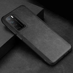 Soft Luxury Leather Snap On Case Cover for Huawei Honor Play4 5G Black