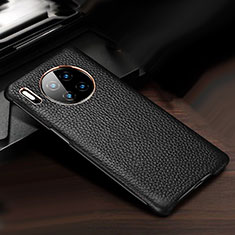 Soft Luxury Leather Snap On Case Cover for Huawei Mate 30 Pro 5G Black