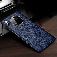 Soft Luxury Leather Snap On Case Cover for Huawei Mate 30 Pro 5G Blue