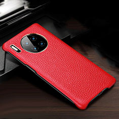 Soft Luxury Leather Snap On Case Cover for Huawei Mate 30 Pro 5G Red