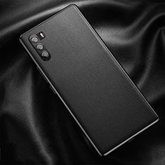 Soft Luxury Leather Snap On Case Cover for Huawei Mate 40 Lite 5G Black