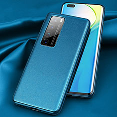 Soft Luxury Leather Snap On Case Cover for Huawei Nova 7 Pro 5G Blue
