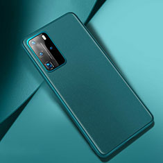 Soft Luxury Leather Snap On Case Cover for Huawei P40 Pro Green